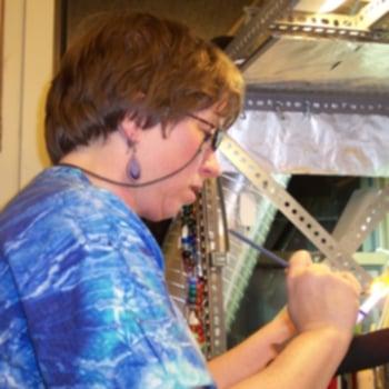 At my torch, April, 2007