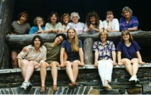 Madelyn van der Hoogt's weaving class at Penland School of Crafts, August 1996