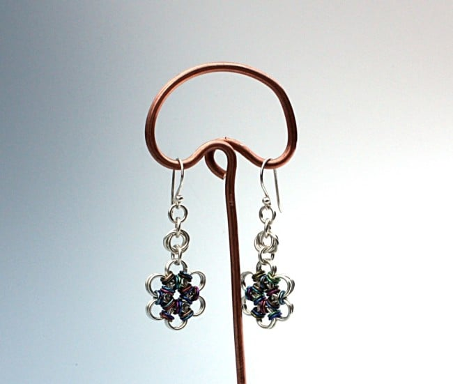 Sterling & Niobium Chainmaille Earrings