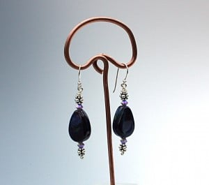 Lampworked glass bead earrings