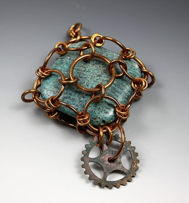 Caged Steampunk Pendant